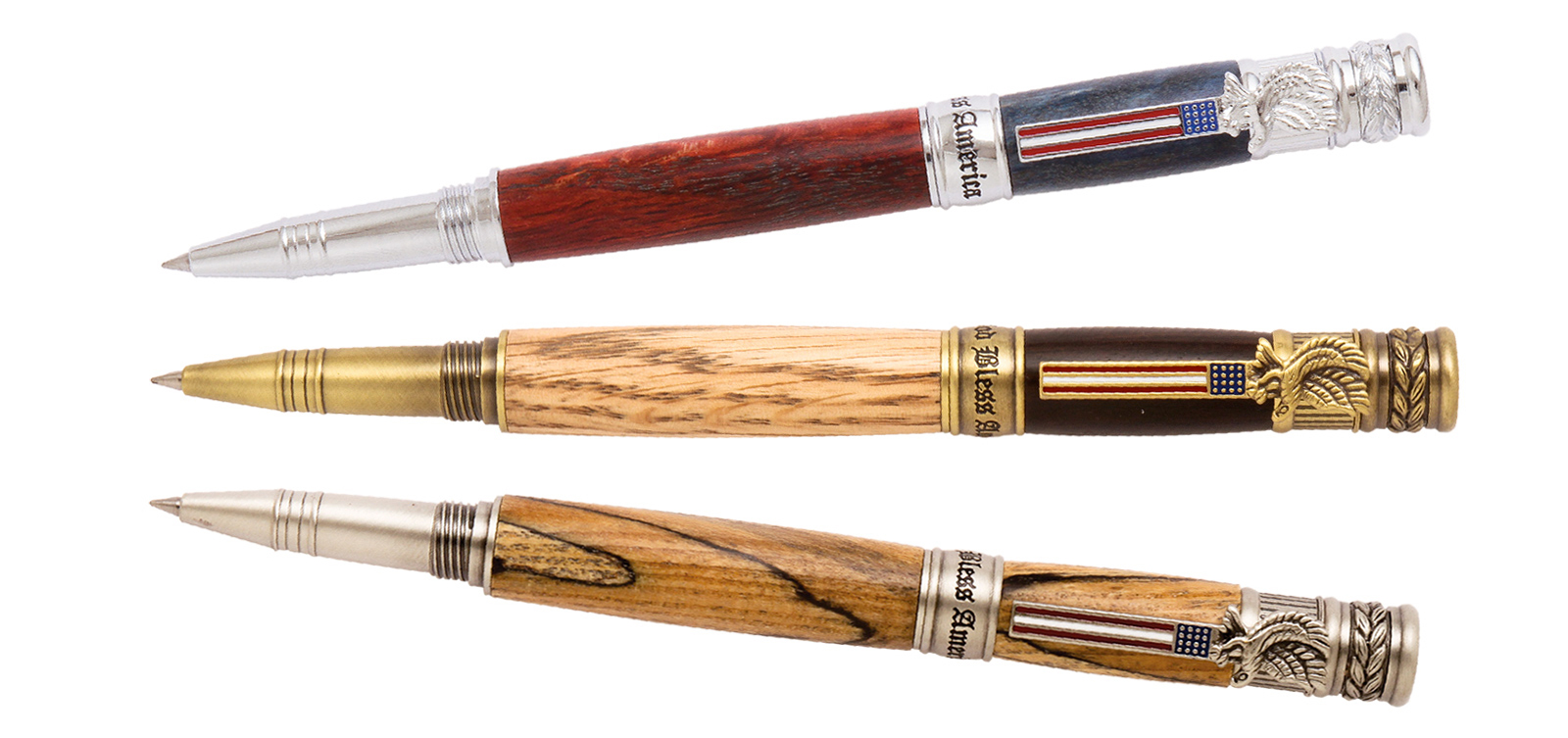Handcrafted American Patriot Pens